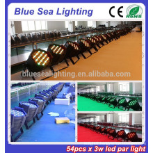 2015 hotsale 54pcs x 3w dj light disco light led par64