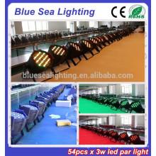 2015 hotsale 54pcs x 3w dj light disco led led par64