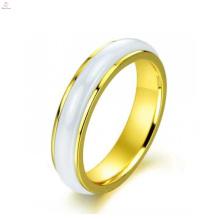 Лучшее качество корейский личность плавный поворотный, керамический свадебное кольцо розовое золото для женщин