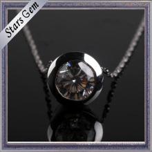 Изысканный круглый Установка Шатона кожа ювелирные изделия Кулон
