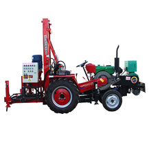 100 m depth 500mm diameter tractor mounted borehole drilling rig