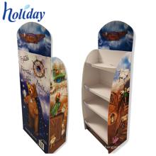 Portable Retail Cardboard Paper Display Rack ,Corrugated Paper Display rack for supermarket