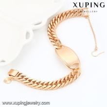 74540- Xuping Jewelry Fashion pulsera en oro de 18 quilates para hombre