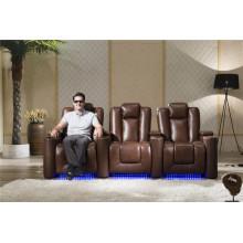 Sofá de couro reclinável para casa, modelo 929