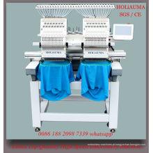 Nova condição 2 cabeça 15 cores máquina de bordar computadorizada automática para 3D Cap vestuário bordado