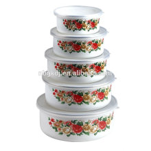 tazón de fuente de los tallarines japoneses del enamelware para el calentador de los tallarines