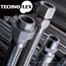 Flexible metal hose for industrial use. Manufactured by Technoflex Corporation. Made in Japan (high pressure flexible hose)