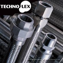 Mangueira de metal flexível para construção. Fabricado pela Technoflex. Feito no Japão (fabricante de mangueiras de metal ondulado)