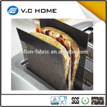 Best selling wholesale price Non stick Reusable Toaster Mesh Strips bag PTFE reusable Toaster Mesh Strips