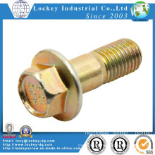 Class 8.8 Hex Flange Bolt, Steel, Cr3+ Yellow Zinc Plated