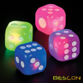 Big Rubber Flashing Dice 1.5inch