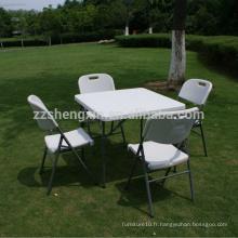 Table pliante plastique portable SXC01 pour camping extérieur