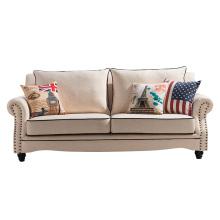 Venta caliente Europa del Norte estilo 1 + 2 + 3 sofá de tela conjunto