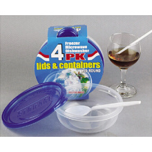 Round Plastic Take Away Microwavable Food Container 15oz