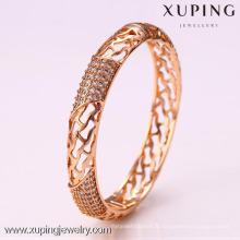 50923 Xuping Mesdames fantaisie concepteur unfinsihed en bois indien verre bracelets