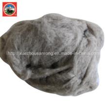 Peigne beige / laine de yak cardé / tissu de laine de cashere / chameau / textile / matière première gaspillée