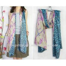 leopord printed scarf