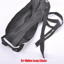 3 # cremallera de nylon de cadena larga