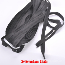 3 # Nylon Zipper Cadeia Longa
