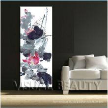 Pintura china decorativa de la lona decorativa de la flor