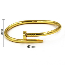 18k Gold Nail Metal Magnetic Bangle Bracelet