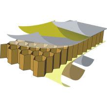 Painéis alveolares de alumínio com várias especificações