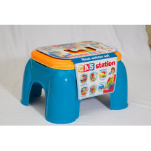 Stool Play Set Toy for Real Action Set-Gas Station