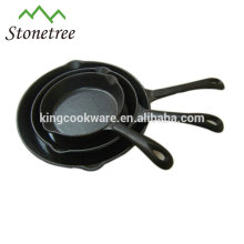 cast iron fry pan /skillet with pre-seasoned coating