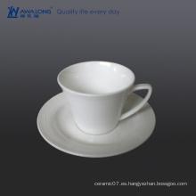 Venta al por mayor jarras de té verde de china de hueso / tazas de té y platillos blancos para la venta