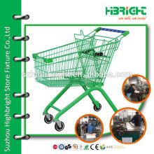 colourful supermarket serving cart