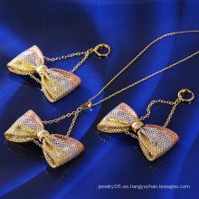 Venta caliente Xuping moda multicolores Bowknot conjunto de joyas (60982)