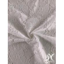 White Spandex Poly Lace