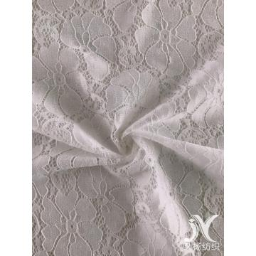 Weiße Spandex Poly Lace