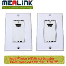 Prolongateur de HDMI de plat de mur de 30m au-dessus de Cat6e pour 1080P