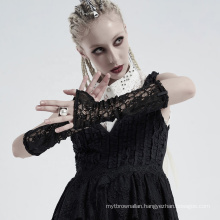 PUNK RAVE WS-413SSF lady girl sexy plus size women strip lace kintted daily lace club gothic glove sleeves
