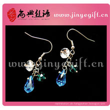 Modeschmuck Handmade Light Sapphire Blue Petite Ohrringe