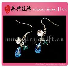 Bijoux fantaisie à la main Light Sapphire Blue Petite Boucles d'oreilles