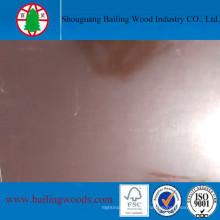 Brown Film hizo frente a la base del álamo de la madera contrachapada con buena calidad