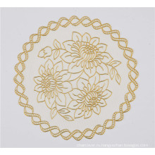 16см круглый ПВХ теплоизолирующая подставка с золотом кружево популярные Кофеварка/свадьба