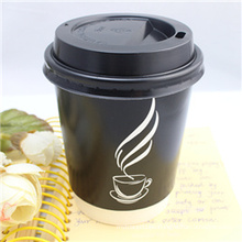 Hot Drinking Disposable OEM Factory Coffee Paper Cup with Lid