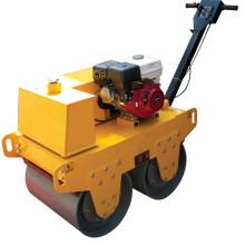 Rouleau de vibration double tambour de moteur à essence diesel
