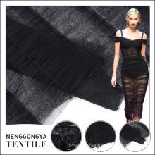 Eco friendly newest dress tulle dubai pure crinkle chiffon fabric