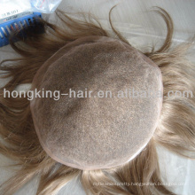 100 remy human for invisable toupee for men