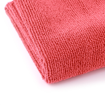16x16In Edgeless Microfiber Car Cleaning Trockentuch Rot