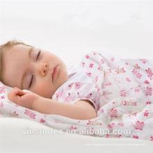 Algodão orgânico bebê branco envolve musselina bebê musselina envolve