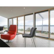 Puertas y ventanas de aluminio de vidrio doble de las normas australianas