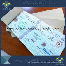 Prägefolie Papier Coupon Ticket