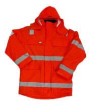 Orange Solid PU Wasserdichte Regenmantel / Reflektierende Sicherheitsbekleidung