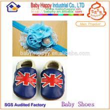 2014 wholsale top -grade chaussures en cuir bébé