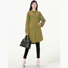 Premium latest design winter new Embroidered floral Dark Green long blouse
